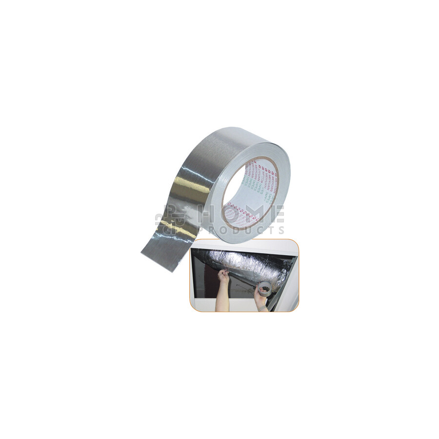Aluminium tape 10 meter lang en 50 mm breed